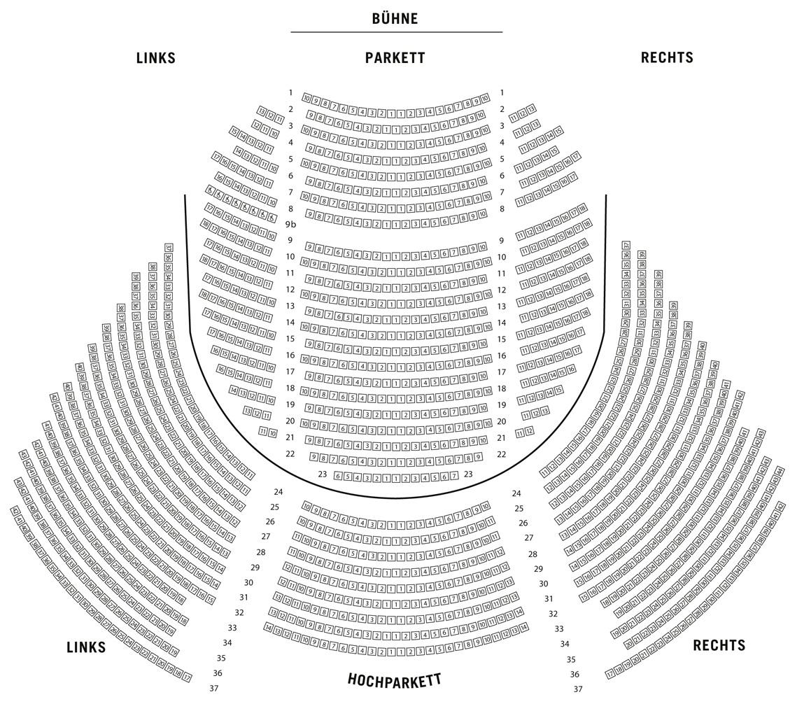Saalplan Metronom Theater Oberhausen