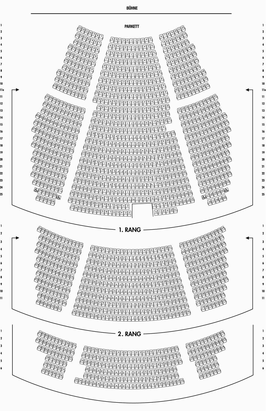 Saalplan Palladium Theater Stuttgart